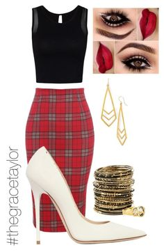 """""""Plaid Simplicity"""" by graciep0o on Polyvore featuring Jimmy Choo, Amrita Singh, Dogeared and Suz Somersall"""