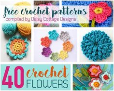 40 Free Crochet Flower Patterns compiled by Daisy Cottage Designs: - PinnMeFree flower crochet patterns are some of my favorite crochet patterns. I'm always on the lookout for another beautiful flower pattern – whether it's to embellish a hat, glue Unique Crochet, Love Crochet, Crochet Gifts, Beautiful Crochet, Crochet Stars, Diy Crochet, Crochet Lamp, Crochet Motif, Crochet Patterns