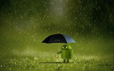 3D Android Rain