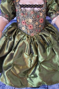 American Girl Clothes. Stunning Old World Satin Taffeta Gown