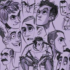 Character sketches #procreate #visualdevelopement #artistoninstagram #characterdesign #sketch #animation #ahmedgamal