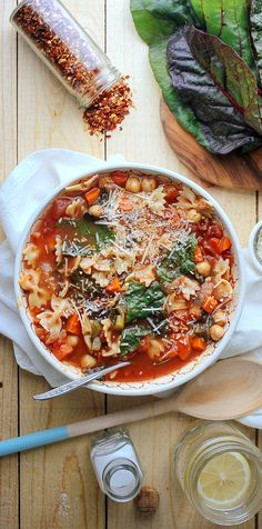 Chickpea Tomato Minestrone. I absolutely adored this soup. Hearty yet not heavy, savory yet sweet from the tomatoes, and so many perfect textural elements. My cooking times were a little longer than those suggested in the recipe but it still came together beautifully in under an hour.