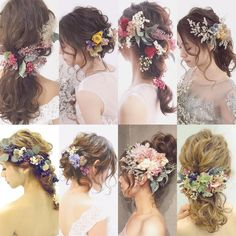 I'll Paint You, Mornings Of Gold (Labyrinth Fanfiction) P. Jareth×Reader - The Wedding - Page 3 - Wattpad Bridal Makeup, Wedding Makeup, Bridal Hair, Bride Hairstyles, Pretty Hairstyles, Hair Arrange, Hair Setting, Braut Make-up, Floral Hair