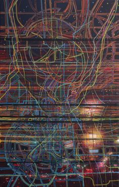 'City Movements'. Acryl / photo on canvas. 90 x 140 cm. https://www.facebook.com/anmomoen