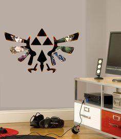 Legend Of Zelda Wall Sticker Vinyl Mural Full Colour Decal 700mm x 400mm Custom Sizes Available