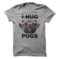 I Hug Pugs funny t-shirt for men, $21 #pugs