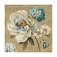 Marche de Fleurs Blue III Giclee Print by Lisa Audit at AllPosters.com