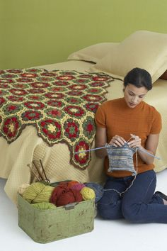 Fall Hexagon Afghan Pattern (Crochet)