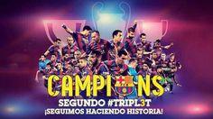 #CampionsFCB #UCLFinal #TRIPL3T #DR3AM #FCBarcelona