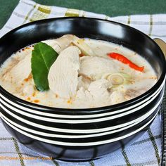 Chicken Coconut Soup - Tom Ka Gai | Cook Asian Food