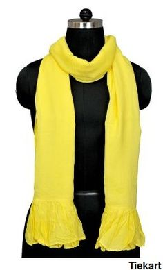 Women Cotton #Scarves - A sunflower yellow , is enough to add smile and sunshine to any meeting or party...