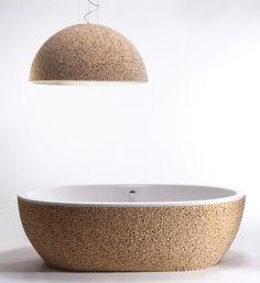 Contemporary Baignoire Stone Pixel Bathtub - pictures, photos, images
