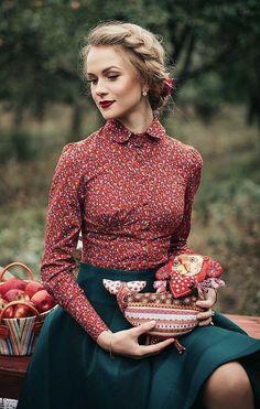 Vintage Mode - Vintage-Kleidung -Noble und Vintage Mode - Vintage-Kleidung - How To Wear Green Shirt Ideas For 2019 lena hoschek herbst winter 2016 2017 Fashion Mode, Work Fashion, Modest Fashion, Retro Fashion, Vintage Fashion, Classy Fashion, Fashion Jewelry, Club Fashion, Vintage Inspired Fashion
