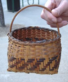 antique baskets | Cherokee Indian Basket Rivercane splint