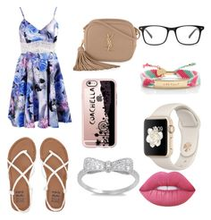 """""""Summer"""" by alexiscmcdougald on Polyvore featuring Billabong, Yves Saint Laurent, Casetify, Kate Spade and Lime Crime"""
