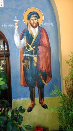 Αγιογραφίες με ελληνικές παραδοσιακές στολές [εικόνες] | iefimerida.gr Byzantine Icons, Byzantine Art, Religious Icons, Religious Art, Orthodox Icons, Sacred Art, Saints, Pictures, Painting