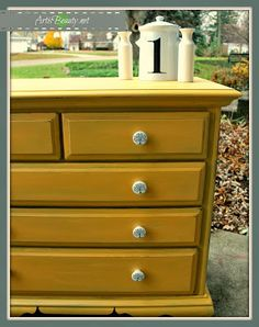 ART IS BEAUTY: Simple and Elegant Yellow Dresser Makeover