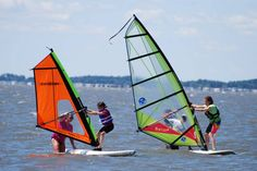 Ever wanted to learn to windsurf? This intro lesson is on our Summer Bucket List! #ocmd