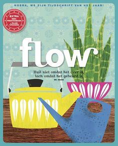 Flow Magazine - Magazine for paper lovers Cool Magazine, Magazine Art, Magazine Covers, Media Magazine, Love Illustration, Illustrations, Papers Co, Cover Art, Netherlands