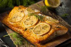 Fresh salmon recipes like salmon steak recipes, salmon ball recipe that is outstanding, Fresh Salmon Recipes, Grilled Salmon Recipes, Lemon Recipes, Potato Recipes, Grilling Recipes, Seafood Recipes, Diet Recipes, Lemon Dill Salmon, Ginger Salmon