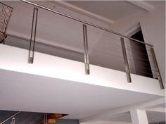 Baranda de escalera de acero inoxidable GARDE-CORPS MÉTAL GCM010 Colección Barandas de escalera de metal by Kozac