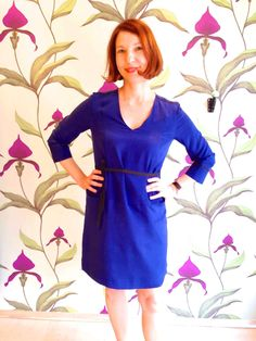 """Véronique is wearing the """"Hermite"""" dress.  www.collection66.com"""