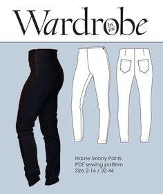 PDFsewing pattern//Slim pants sewing pattern//Pants E-pattern//Wardrobe by me//Haute skinny pants//Pants sewing pattern//woven+jersey - pinned by pin4etsy.com