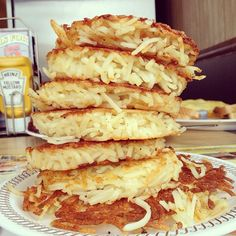 The leaning tower of hashbrowns
