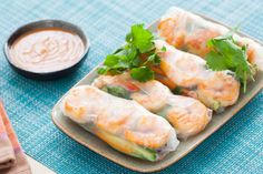 Shrimp Summer Rolls with Spicy Peanut Dipping Sauce Recipe