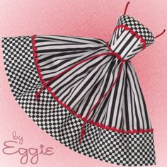 Check Mate - Vintage Reproduction Repro Barbie Doll Dress Clothes Fashion