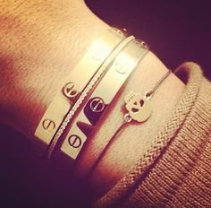 Cartier Love bracelets and skull bangle....yesx100!!! i found it have very cheap price on:http://www.cartiershops.com/