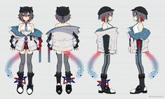 Character Sheet, Character Drawing, Character Concept, Drawing Anime Clothes, Anime Girl Drawings, Fashion Design Drawings, Anime Outfits, Character Design Inspiration, Designs To Draw