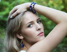 Royal blue sodalite beaded stacking bracelet by Rosehip Jewelry