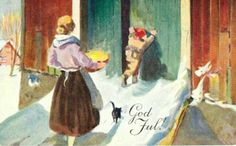 Julekort Gerhard Gjerding utg Mittet brukt 1935