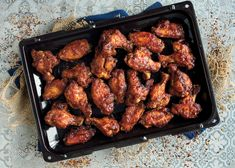 Sweet, Sticky, Spicy Chicken Wings