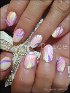 #nail #nails #nailart water marble nail art