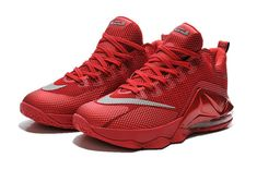 84c81ec2435e2 LeBron 12 Low University Red Reflective Silver Bright Crimson 724557 616 Nike  Lebron