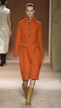 Orange   Victoria Beckham Fall/Winter 2015There was so. much. orange. this season, and we're not complaining! Talk about a pop of color. via @stylelist