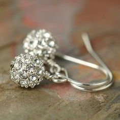 Pave crystal earrings, also great for bridal jewelry earmarksocial