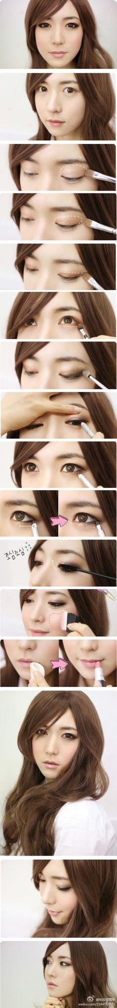 Best Asian makeup tutorials on http://pinmakeuptips.com/top-asian-makeup-tips-at-one-place/