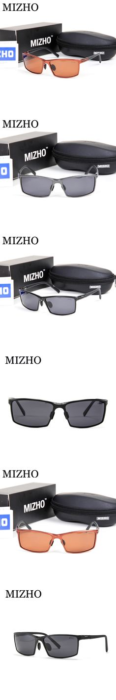 MIZHO Brand Original UVA oculos de sol masculino FDA Standard Polaroid HD Rectangle Aluminium Sunglasses Men Polarized Driving