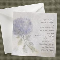 Hydrangea Water Color Wedding Invitation 40% OFF  |  http://mediaplus.carlsoncraft.com/Wedding/Wedding-Invitations/9IF-9IF7796-Hydrangea-Water-Color--Invitation.pro