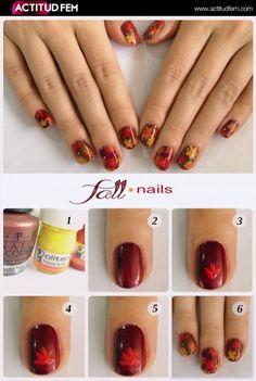 Tutorial: Fall Nails  #nailart #nailtutorial #nails #manicure #tutorial #diy #esmalte #bellezafem #viernesdemanicure #uñas