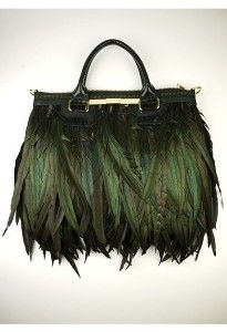 Eden & Eden feather bag from London designer Angel Jackson.