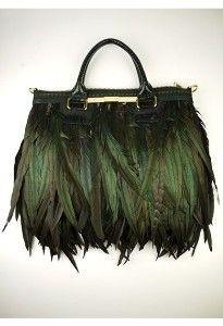 Eden & Eden feather bag from London designer Angel Jackson.