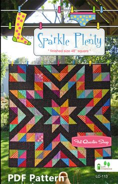 Love the star quilt pattern!   Pattern Play with the Fat Quarter Shop - Fat Quarter Shop's Jolly Jabber