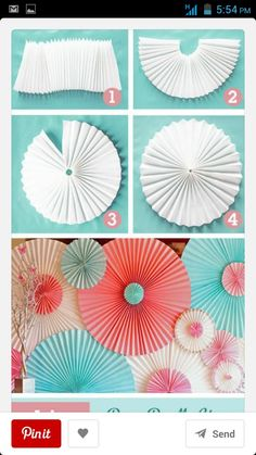 DIY Backyard Party Decor - DIY Paper Rosettes - Cool Ideas for Decorations for Parties - Easy and Cheap Crafts for Summer Barbecues and Family Get Togethers, Swimming and Pool Party Fun - Step by Step Tutorials For Banners, Table Decor, Serving Ideas Backyard Party Decorations, Backyard Parties, Backyard Ideas, Decoration Party, Backyard Bbq, Cheap Party Decorations, Homemade Birthday Decorations, Crape Paper Decorations, Pinwheel Decorations