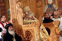 Cairo, Egypt: The body of Pope Shenouda III, the head of Egypt's Coptic Orthodox church, is displayed for public viewing at Abassiya Cathedral