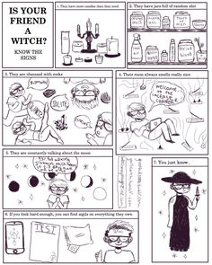 IS YOUR FRIEND A WITCH? I've started doing monthly comics for witch way magazine! This is what will be coming in the june issue along with other quality pagan content it's gonna be SICK pls spread the...