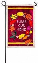 Flag-Garden-Autumn-Bless Our Home-Felt (12.5 x 18)